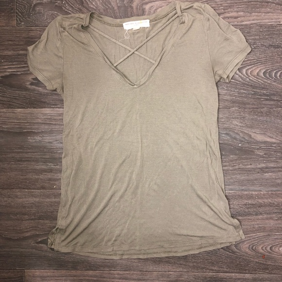 Project Social T Tops - Project Social T 🖤 UO green top size small
